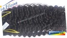 100% natural Valeriana Curl filipino human hair extension