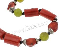 Gets.com natural coral multi strand bead chain necklace