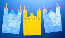 PLASTIC BAG/HDPE t-shirt shopping plastic bag with high quality skype salestnp01 export to EU, Germany, USA...