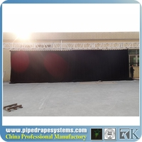 motorized retractable curtain with velour cloth