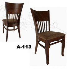 curved back restaurant wood dining chair