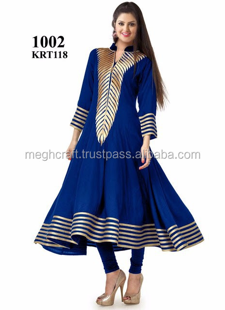 WHOLESALE GEORGETTE ANARKALI KURTI 2015-PARTY WEAR BLUE COLOR GEORGETTE KURTIS