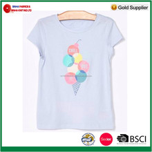160g/m2 100% Cotton Jersey with Printing Kids T-Shirt