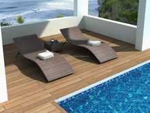 Best quality Cheap leisure outdoor rattan sunbed beach chair for swimming pool