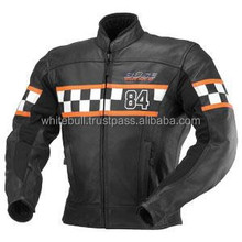 NEW Men Motorbike racing Leather Jacket/Motorcycle Biker Jacket