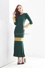 Round Neck Sequin Design Jubah Dress