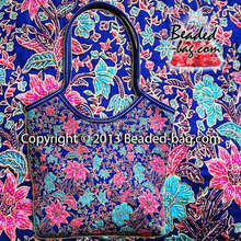 PERANAKAN Tote Leather Bead Beaded Bag