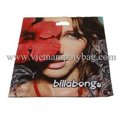 customized printing PE die cut senrong shopping bag