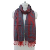 Long Stole Poly Wool Reversible Floral Design Neck Wrap Women Wear Shawl BSH1051