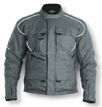 Grey Cordura Motorbike Textile Jacket