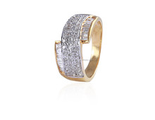 0.91 CARATS WEDDING RING IN NATURAL DIAMONDS & SOLID BIS HALLMARK 14KT YELLOW GOLD