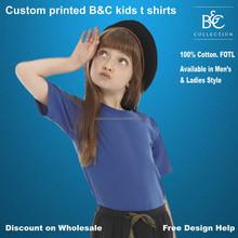 custom printed B and C Kid's Exact 150 T-Shirt UK