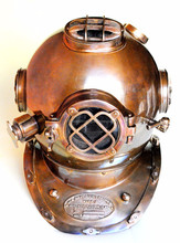 fine quality antique look vintage finish divers helmet replica mark v