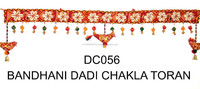Indian Traditional Handmade kodi work with Floral Design Cotton Door Hanging Toran- Wholesale handmade crystal work wall hanging