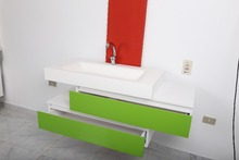 Solid surface and corian wash basin and shower tray and bathtub