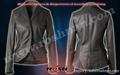 abrigo de cuero elegante para las muchachas