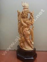 sandalia de madera radha krishna estatua