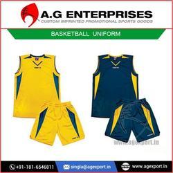 Custom Top Grade Fabric Basketball Uniform Design