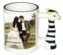 11oz Ceramic Animal Mug Customise Wedding - anniversary gift