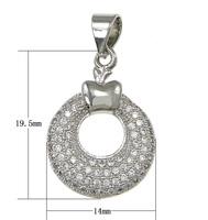 Cubic Zirconia Pave ass Pendant platinum plated pave 45 pcs cubic zirconia nick lead & d free 14x19.50x2.80mm Hole:Appr 3x4mm 10