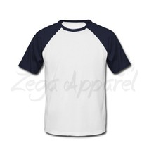 2015 popular plain round neck t shirt, with customized printed or embroided logo
