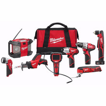 NEW YEAR PROMO Sales for Milwaukee 2495-28 12 Volt M12 8-piece Cordless Combo Kit