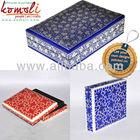 Novo design floral azul rectangular pintado à mão papel mache embalagens& lembrança caixa de jóias( papier mache)