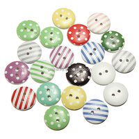 80pcs Round Dot Stripe Wooden Buttons Home Crafts Scrapbooking Sewing Button Accessories Cardmaking DIY Decor