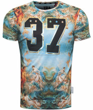 Sublimation t shirts / customize 100% Polyester Sublimation T Shirts / sublimated shirts made from shani sports wear