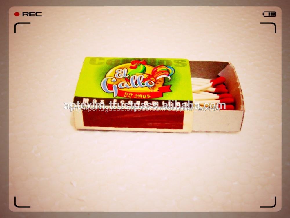 Cera de papelão caixa de fósforos de segurança personalidade para Uganda mercado