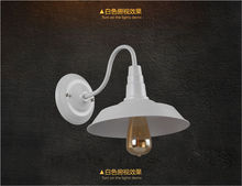 classical rural style aluminum wall light with Edison bulb