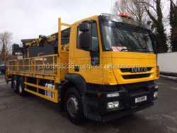 USED TRUCKS - IVECO STRALIS 6*2 FLAT BED WITH MOUNTED CRANE (RHD 3637)
