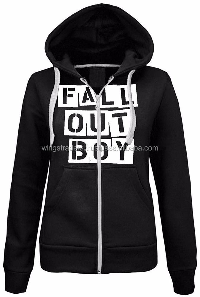 Femmes Fall Out Boy Imprimé À Capuche Dames Zippée Hiver Polaire À Capuche