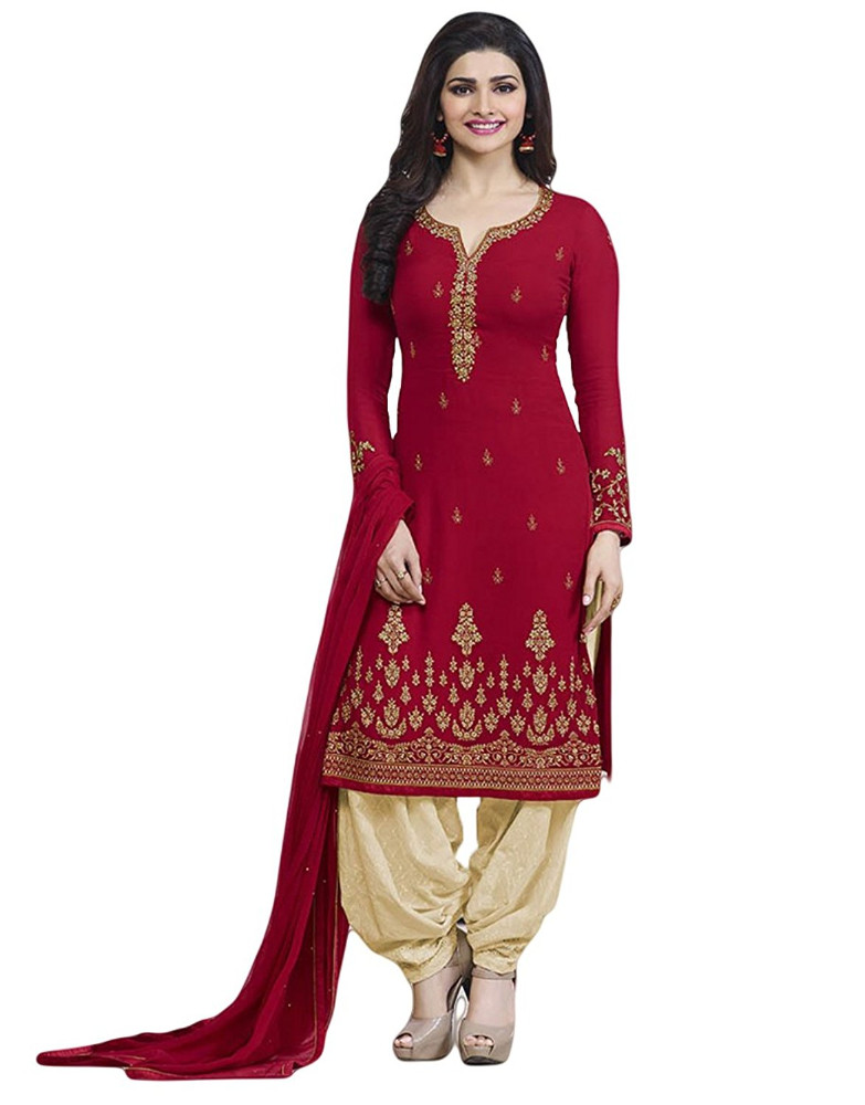 Casual Wear Salwar Kameez With Patiala Pant / Palazzo Pant Style (salwar kameez suits)