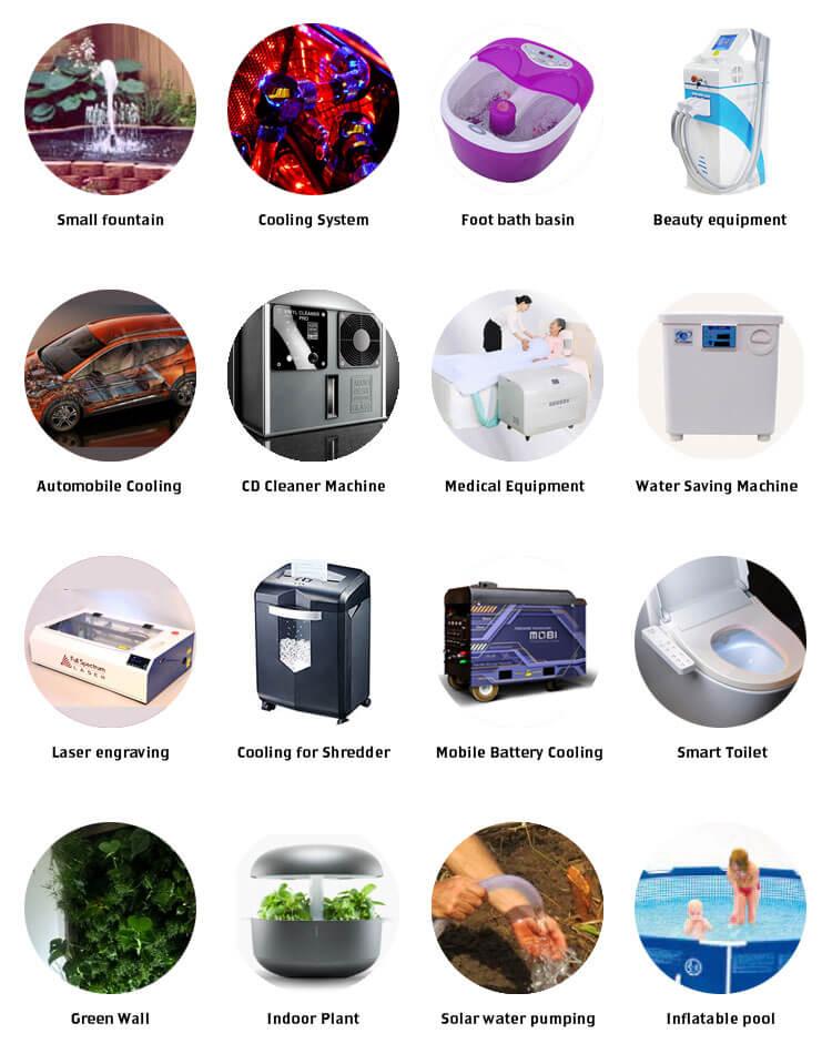 Applications of BLDC PUMPs