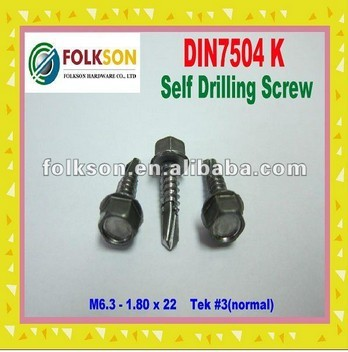 din7504k self drilling screw